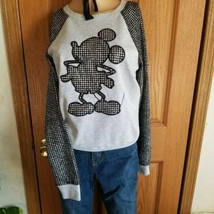 Disney Boutique Metallic houndstooth Mickey Mouse